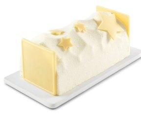 Casino - Succès amande, mousse caramel au beurre salé aux morceaux de noix de pécans caramélisées et mousse vanille. pour 4/6 parts : 11,5€