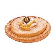 Dalloyau - Galette Dame de Pommes. Paille feuilletée croustillante, divine pâte feuilletée garnie d'une crème d'amande au caramel Maison, fondants quartiers de pommes cuites au four, caramel mou à la vanille Bourbon de Madagascar et craquelin nougatine. 42€/8pers