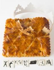 Eric Kayser - le célèbre boulanger a réalisé sa nouvelle galette à l'image du petit biscuit LU. Garnie d'une crème d'amande, d'un caramel et de poires poêlées au beurre salé. 27€/6pers.