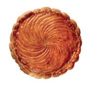 Gâteaux Thoumieux - La nouvelle patisserie propose une galette traditionnelle à la frangipane, mais surtout une seconde version agrémentée de cacao Valrhona et de poires Williams. 24€/4pers.