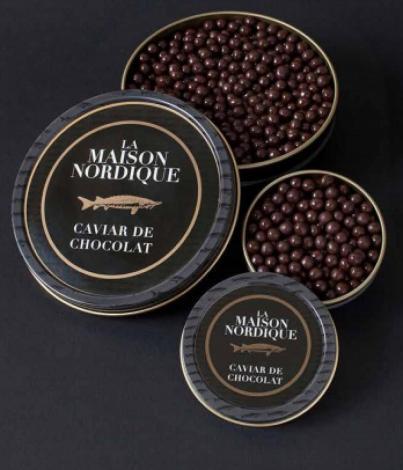 La Maison Nordique : caviar de chocolat. grosse boite de 125g pour 9€